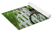 Bicycle And White Fence Yoga Mat
