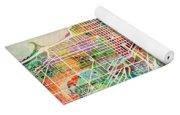 Chicago City Street Map Yoga Mat