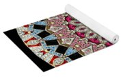 Kaleidoscope Colorful Jeweled Rhinestones Yoga Mat