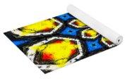Kaleidoscope Of Primary Colors Yoga Mat