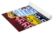License Plate Map Of Canada Yoga Mat