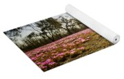 Pink Wildflowers Yoga Mat