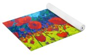 Poppy Field Yoga Mat
