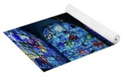 Stained Glass Chagall Windows Yoga Mat