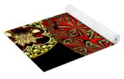 Stained Glass Kaleidoscope Under Glass Yoga Mat