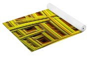Sunflower Abstract Yoga Mat