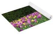 Tulip Flowers In A Garden, Chicago Yoga Mat