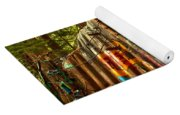Whistler Train Derailment Box Car Yoga Mat