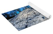 Winter Scinery In The Mountains With Bllue Sky And Sunshine Yoga Mat