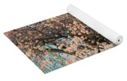 Cherry Blossoms In Pink And Brown Yoga Mat