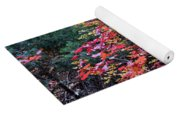 Colorful Leaves On A Tree Yoga Mat
