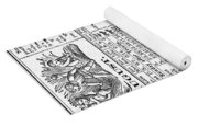 Family Almanac, 1874 Yoga Mat