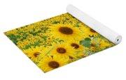 Field Of Sunflowers Helianthus Sp Yoga Mat