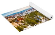 High Angle View Of Rock Formations Yoga Mat