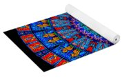 Kaleidoscope Stained Glass Window Series Yoga Mat