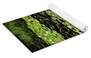 Lily Pads On Dark Water Yoga Mat