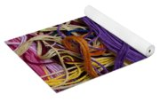 Multicolored Embroidery Thread Mixed Up  Yoga Mat