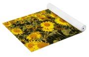 Sunflowers At Dawn Yoga Mat