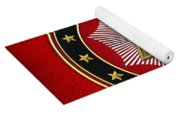 20th Degree - Master Of The Symbolic Lodge Jewel On Red Leather Yoga Mat