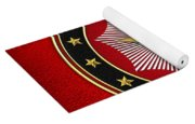 28th Degree - Knight Commander Of The Temple Jewel On Red Leather Yoga Mat
