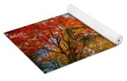 Autumn Fall Landscape In Park Yoga Mat