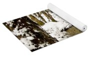 Trees In Snow Yoga Mat