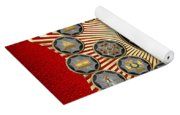 33 Scottish Rite Degrees On Red Leather Yoga Mat