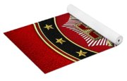 33rd Degree - Inspector General Jewel On Red Leather Yoga Mat