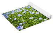 Blooming Flax Field Yoga Mat