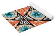 Seamlessly Tiled Kaleidoscopic Mosaic Pattern Yoga Mat