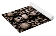 Skulls And Bones In The Catacombs Of Paris France Yoga Mat
