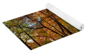 Alley With Falling Leaves In Fall Park Yoga Mat