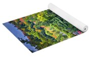 Fall Forest And Lake Yoga Mat