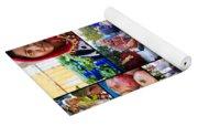 A Collage Of The Fresh Market In Kusadasi Turkey Yoga Mat
