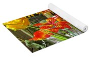 A Table Of Flowers Yoga Mat