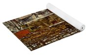 A Village In The Snow Yoga Mat