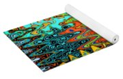 Abstract Background With Bright Colored Waves 1 Yoga Mat