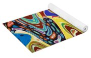 Abstract Background With Bright Colored Waves 17 Yoga Mat