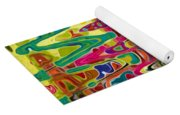 Abstract Background With Bright Colored Waves 5 Yoga Mat