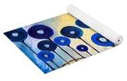 Abstract Blue Symphony  Yoga Mat