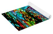 Abstract Color Falls Yoga Mat