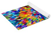 Abstract Colorful Splash Background 1 Yoga Mat