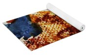 Abstract-duck-dancing Bear And Buffalo Yoga Mat