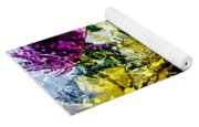Abstract Flowers Messy Painting Yoga Mat