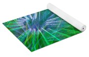 Abstract Green Lights Yoga Mat