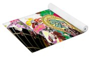 Abstract Inca Warriors Past Present And Future Yoga Mat