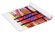 Abstract Pen Drawing Fifty Yoga Mat