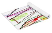 Abstract Pen Drawing Forty-five Yoga Mat