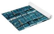 Abstract Reflections In Windows Yoga Mat