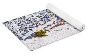 Abstract Snow Storm Yoga Mat